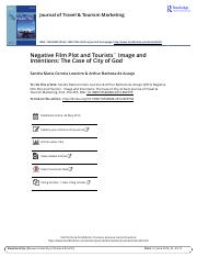 Negative Film Plot and Tourists Image and Intentions The Case of City of God.pdf