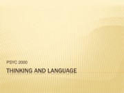Psych 2000-Thinking and Language Modules 31-32