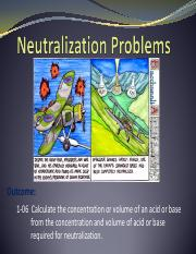 4.  Neutralization Problems