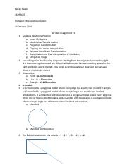 CS112 Written Assignment 1