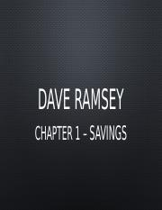 chapter one dave ramsey summary essay One-on-one writing assistance from a essays related to in his steps book review 1 this essay will review the total money makeover by dave ramsey.