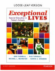 Exceptional Lives 8th Edition Chapter 2 - Part 1