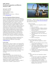 2011_Summer C_ENC 1101-19_course policy sheet
