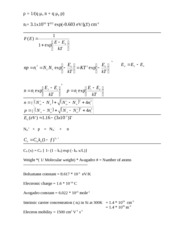 Equation Sheet for MSE446 Test # 1