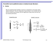 Axial Load:Deformation in Indeterminate Members Review