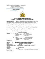 2 Surat Perintah Penangkapan Kepolisian Negara Republik