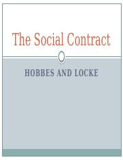Lecture Four - Hobbes and Locke's Social Contracts.pptx