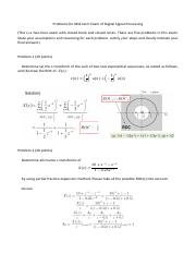 Solutions to Problems of Mid-term Exam for DSP--勘误版.pdf