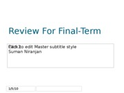 Review For Final-Term 1 -Part 1