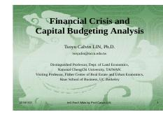 20161101__Financial_Crisis_and_Capital_Budgeting_Analysis---_Real_EstateInvestment_by_Prof_Calvin_LI