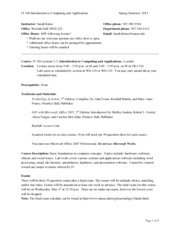 IT100 syllabus (spring 2011)