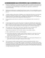Simulation Problem sheet