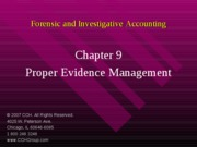 3Ed_CCH_Forensic_Investigative_Accounting_Ch09