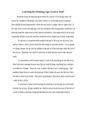 lower the drinking age essay apa format example essay