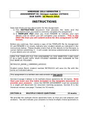 HMEMS80 ASSIGNMENT 01 SEMESTER 1 INSTRUCTIONS.doc