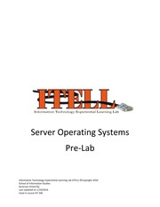 Lab03 Server Operating Systems Pre-Lab