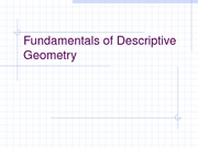 Fundamentals of Descriptive Geometry Part I 11