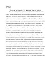 Dubai's most exciting city to visit.docx