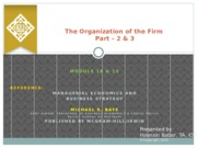 M 14 15 The Organization of the Firm