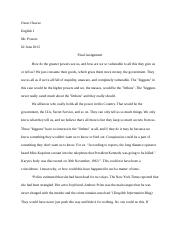LOTF and JFK comparison essay