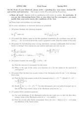 Final Exam Spring 2010 Solution on Calculus 2 for Engineers
