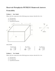 Lesson 5 Homework Solutions - Permeability
