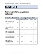 financial statement analysis module 1 test Want a review of financial statements and financial ratios module 5: fundamental analysis 1 of 20 the analyst takes this information and compares it.