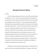 DevCockrellManagerialDecisionMaking
