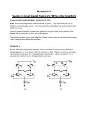 HW5_Chap3_DifferentialAmplifiers_F2013
