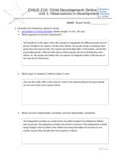 Ch 1 Observations in Dev study guide w2013