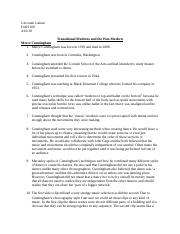 Transitions Contemporary and Modern HW.docx