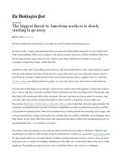 EC 430 The biggest threat to American workers is slowly starting to go