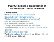 Lecture 2 - September 11 - Endocrine Hormones