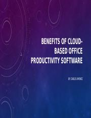 Benefits of Cloud-based Office Productivity Software