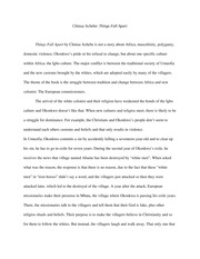 chinua achebe essays  essay on summary of things fall apart by chinua achebe