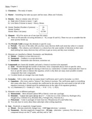Ch. 1) Introduction to Chemistry