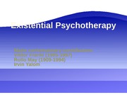 Existential Therapy for Theories