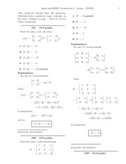 Cross Product and Vectors with answers