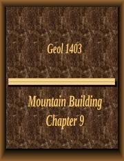 1403 Ch. 9 Crustal Deformation & Mountain Building PP