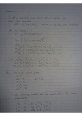 numerical methods 24311 Homework 9 Problem 1 Solutions