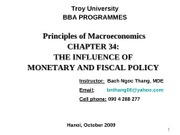 Chap.34_The Influence of Menetary and Fiscal Policy on Aggregate Demand