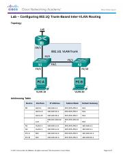 6.3.3.7 Lab - Configuring 802.1Q Trunk-Based Inter-VLAN Routing.docx