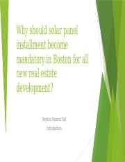 Why solar panel instalment should become mandatory in