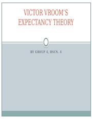 VICTOR VROOM'S EXPECTANCY THEORY.pptx