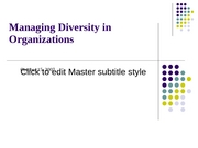 10.15 Managin Diversity in Organizations