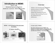 Lecture 01 Introduction to MEMS