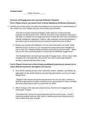 Thomas_Seminar 2 Engagement and Learning Reflection Template