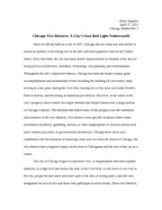 Chicago Studies Research Paper