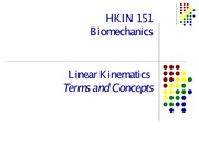 Lecture 3 - Linear Kinematics
