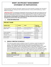 mgmt404 final project Questiondue week 8: final project package you will need to create a project plan this plan should be completely integrated and presented in a logical order.